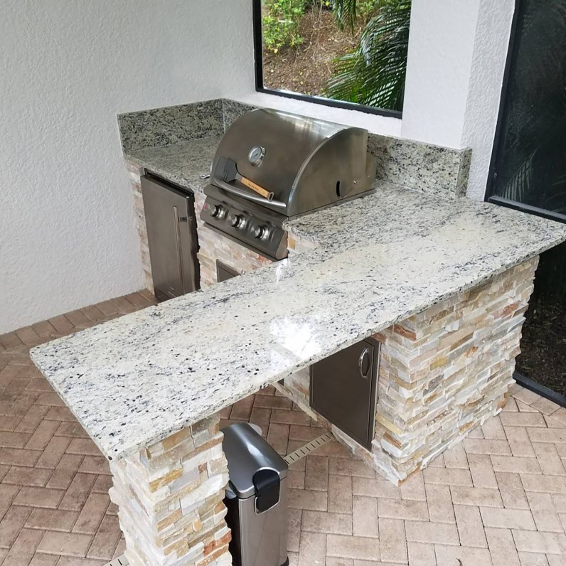 St. Cecilia Granite Counter-top Over Hang